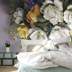 Custom 3D Wallpaper Walls Vintage Rose Flower Butterfly Mural sala de estar TV de fondo decorativo Wallpaper Wallpaper pintura