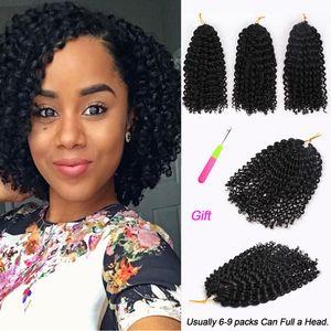 Marley Trecce? Marly Bob Ombre Crochet intrecciare i capelli estensioni sintetico Marly arricciatura del Jerry giamaicano Crochet capelli Afro crespo ricci per le donne