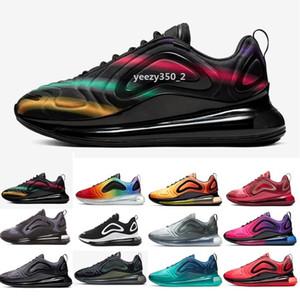 2019 Nuove Nike air max 720 scarpe da uomo completamente imbottite da donna Neon Triple nero grigio carbonio Sunset argento metallizzato Chaussures scarpe da corsa taglia 36-45