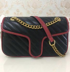 Venda quente de alta qualidade da mulher bolsas 26 cm mulheres cadeia de ouro sacola sacola sacos de ombro saco de corpo cruz saco do mensageiro feminino bolsa 443497
