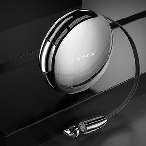 CAFELE excellente série d'action USB Micro USB rétractable en alliage de zinc Adsorption magnétique Câble de données, Longueur: 1m
