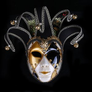 Halloween Party mascarade Femmes Masques Personnalité facial Jester Masque Mode plastique Masques Lady Festive Party