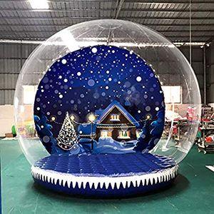 2019 Yeni tasarım Şişme Snow Globe İçin Noel 2m / 3m / 4m Dia Şişme Balon Snow Globe İçin Reklam Güzel Snow Globe Ucuz