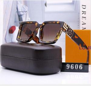 Milionário Praça óculos de sol óculos de sol designe quadro do vintage cheio de homens, mulheres brilhante do ouro Logo Hot vender banhados a ouro Top NO BOX
