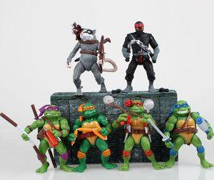 [Funny] 6pcs lot Mutant Turtles Movie 12cm Master Splinter Leonardo Raphael Michelangelo Donatello Model doll Action Figures toy T200704