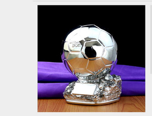 Eşyalar Reçine Craft Keepsake Kupaları lider Futbol Şampiyonu Gümüş bakır katı Trophy Titan Kupası Altın Top Futbol Fan Cheer