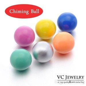 قفص انخيل الكرة 12MM الرنين الكرة 14colors متعدد الألوان الوئام الكرة في المعلقات القلائد (VA-035)