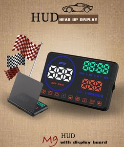 헤드 업 디스플레이 프로젝터 HUD M9 속도 디스플레이 반사경 / 배플 보드 오류 / 오류 알람 표시기가있는 5.5inch obd2 시스템