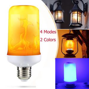 4 Modes LED Flame Lamp Flicker Flame Fire Effect E27 LED Simulated Light Bulb 3W