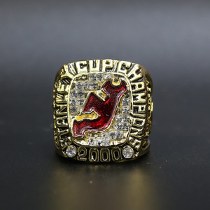 2000 New Jersey Devils Hockey Championship Ring Souvenir Fans Gift Wholesale Drop Shipping