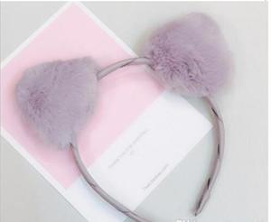 Plush hair band cute, super sprouting sweet fresh head hoop girl heart adorn cat ear Lady Lady hairpin 20pcs lot W425