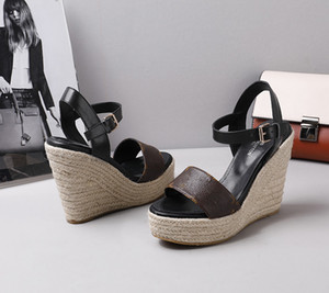 673 women's platform high heels slippers casual shoes flat shoes latest women's heels sandals slippers Fisherman shoes90