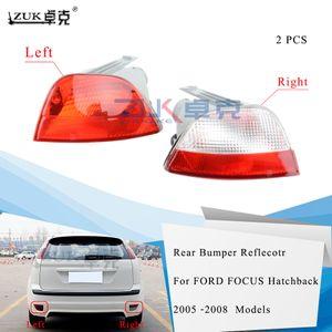 ZUK 브랜드 뉴 왼쪽 오른쪽 후면 범퍼 반사판 안개 빛 안개 램프 포드 포커스 2005 년 2006 년 2007 년 2008 해치백 램프 전구 없음