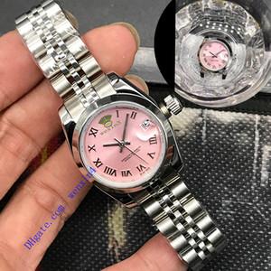 18 개 색상의 고급 여성 자동 시계 스테인레스 스틸 손목 시계 핑크 적합한 여성 28mm 방수 DATEJUST 시계
