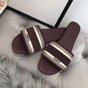 Paris Luxury Designer Scuffs Womens Slipper Summer Sandals Beach Slide Slippers Girls Flip xshfbcl Vintage Embroidered Floral Slippers
