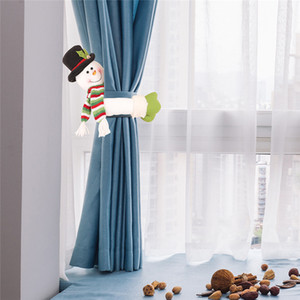 Noel Perde Toka tieback Santa kardan adam Pencere Süslemeleri Noel Karikatür Doll Perde Kanca Noel Süsleri olacak ve kumlu