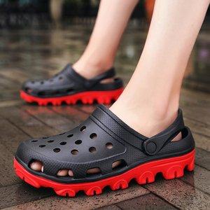 2020 Sandals verão para deslizamento-em sapatas D048 Chinelos Feminino Masculino Coroas Crocse Água mulas de Esportes Mulheres Homens Praia