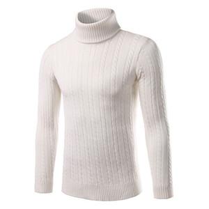 Твердые Свитера Мужчины Черепаха шеи пуловер Tops Зима Новый японский стиль с длинным рукавом вязаные свитера нового