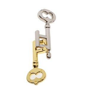 2pcs Kids Adults Mind Training Game Metal Interlock Keys Puzzle Toy