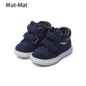 Marca nova de couro genuíno Cabedais Sapatos único meninos e meninas calçados casuais criança botas Botas Calçados de Bebês S200107