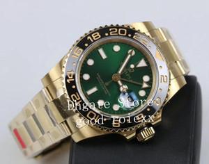 Relojes de pulsera GM Factory Watch Watch Mens Automatic CAL.3285 Movimiento Hombres 904L Acero Real Envuelto 14k Oro Nunca se desvanece 116718 Ln Relojes