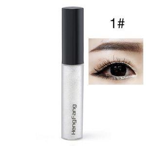 White Liquid Eyeliner Makeup Natural Waterproof Glitter Eye Liner Shimmer Shining Eyes Make Up Hengfang