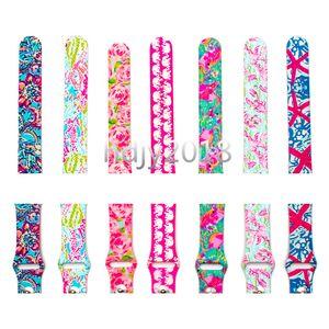 Per Apple cinturini di ricambio Lilly Pulitzer ispirato silicone 38 millimetri 42 millimetri Watch Band cinghie cinturino di lusso per le donne della ragazza gli uomini