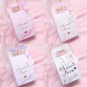 Şeker Kutusu Güzel Şeker Kutuları Mermer Tahıl Çiçek Yaprak El Çantası Düğün Favor Parti Moda 0 45nz UU