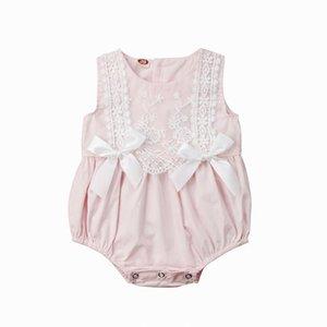 Emmababy العلامة التجارية الجديدة طفل طفلة الرباط زهرة الصيف ارتداءها سترة القفز Sunsuit الملابس 0-24M