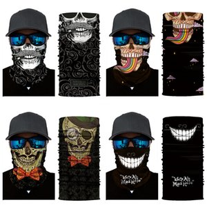 GgRCB Outdoor Seamless Skull Scarf Skull Magic Mask Face Skull Scarf Cycling Riding Masks Warm Neckerchief Outdoor Facial Party Masks#804