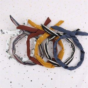 Faixa de cabelo orelhas de coelho lavar rosto tecido de arame arte arco Headband doce selvagem coringa Hairhoop coreano linha ornamento venda quente 0 5pt p1