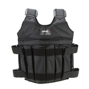 SUTEN 20kg / 50kg Loading ponderata Workout Vest Boxe Training Gym Fitness Equipment regolabile Giacca Gilet Sand Abbigliamento