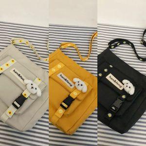 Leisure lazy wind Shoulder Satchel satchel large capacity nylon shoulder bag 2020 students class crossbody bag