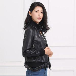 Giacca donna in vera pelle di pecora 2020 reale del cappotto coreano Streetwear Slim Giacche Chaqueta Mujer YFN-1515 YY436
