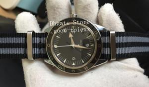 Relógio Automático dos homens Miyota 8215 Cal.8400 Cerâmica Bezel Homens James Bond Espectro Skyfall 007 Nylon Strap Relógios Gauss Master Relógios de pulso