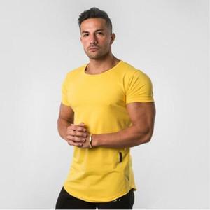 Novo Designer Apertado T-shirt Dos Homens de Fitness T-shirt Homme Ginásios T Shirt Dos Homens de Fitness Crossfit Verão Tees Tops Com Plus Size