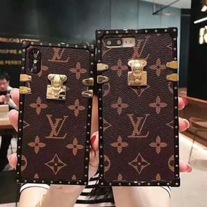 Nueva caja del teléfono de lujo para IphoneX / XS XR XSMAX Iphone7 / 8Plus Iphone7 / 8 6 / 6sP 6 / 6s Caja del teléfono del diseñador con estilo antiguo de la flor de la marca