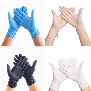 100 PCS Disposable Latex Gloves PVC Gloves Dishwashing Kitchen Latex Rubber Garden Gloves XL L M S Universal For Home Cleaning