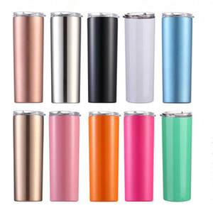 Insulated Tumbler Water Bottle Stainless Steel Thermos Cups Vacuum Beer Coffee Mug Car Office Lids Straws 20Oz Double Layer Drinkware D6853