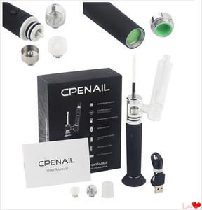 5pcs CPENAIL 1100mAh Pen Wax Portable limande Rig Pot en céramique Quartz électrique H Nail GR2 pur Ti e cigarette verre Vaporizer vapeur bong kits