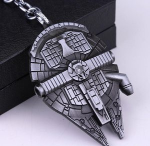 50pc / lot DHL European Film Wars-Schlüsselanhänger Spaceship Battleship Logo Star Trek Schlüsselanhänger Alloy Schlüsselanhänger HYS384