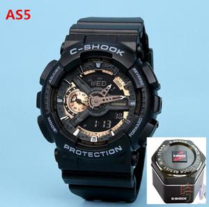 MUCHACHOS G-Shock GA100 del reloj de los hombres del estilo de los deportes al aire libre Relojes Estudiante Ejecución de deportes de las muchachas del reloj LED de doble pantalla multi-función de reloj