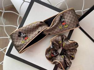 De alta calidad de diseño de lujo headwraps G Cruz elástica Las mujeres de las vendas de manera muchachas bandas de pelo de la historieta de la bufanda accesorios del pelo de regalos