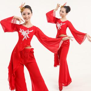 New Disfraces Hmong Kleidung Tanz Kostüme Chinesischer Volkstanz Yangko Stage Performance Kleidung Hüfttrommel Kostüme Fan