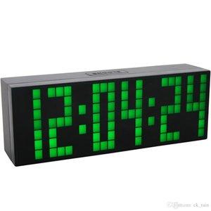 Moderne numérique Grand Big Jumbo LED numérique Réveils Snooze mur Countdown Deskstop Tableau électronique Flip Clock minuterie Horloges