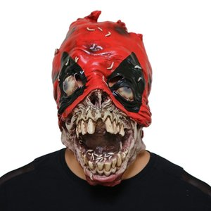 DeadPool Cosplay Horror Mask Halloween Stage Latex Mask Costume Party Entertainment Cool Play Prop Drop Ship T200620