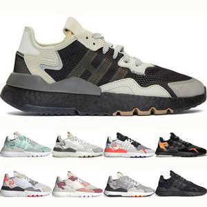 Adidas nite jogger boost Mens Nite Basculador Corrida Sapatos Clássicos Das Mulheres de Viagem Branco Preto Rosa Originais MINT Sports Formadores sapatos homens Sapatilha Sapatos