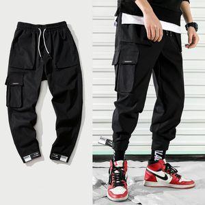 Avril 2019 MOMO New Fashion Cargo Pantalons Hommes Street Style Coton Jogger Pantalons Hommes Casual Slim Sweatpants Men Plus Size