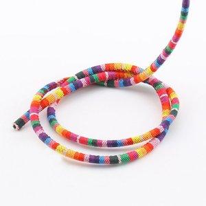 Yeni 5mm x Naylon / Pamuk Çamaşır Dokuma Kordon Handwoven Giyim Dayanıklı Renk Dekoratif Rope 8 Renkler 10meters