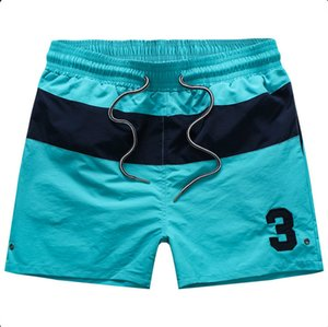 2020 Summer Swimwear Beach Pants Mens Board Shorts Black Men Surf Shorts Small Horse Swim Trunks Sport Shorts de bain homme M-2XL